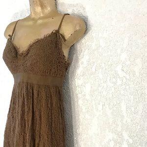 MAX STUDIO frayed lace overlay dress 🎀